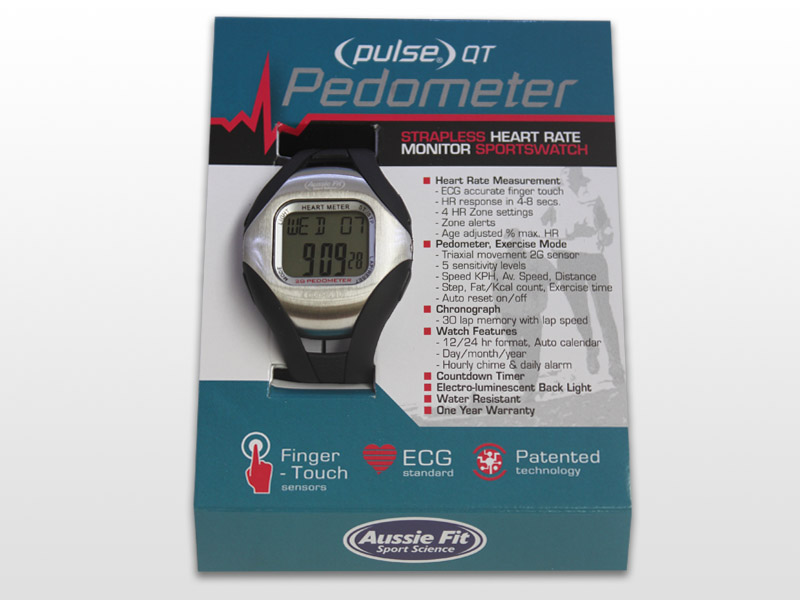 Pulse® QT Pedometer Strapless Heart Rate Monitor - Aussie Fit Sport ...