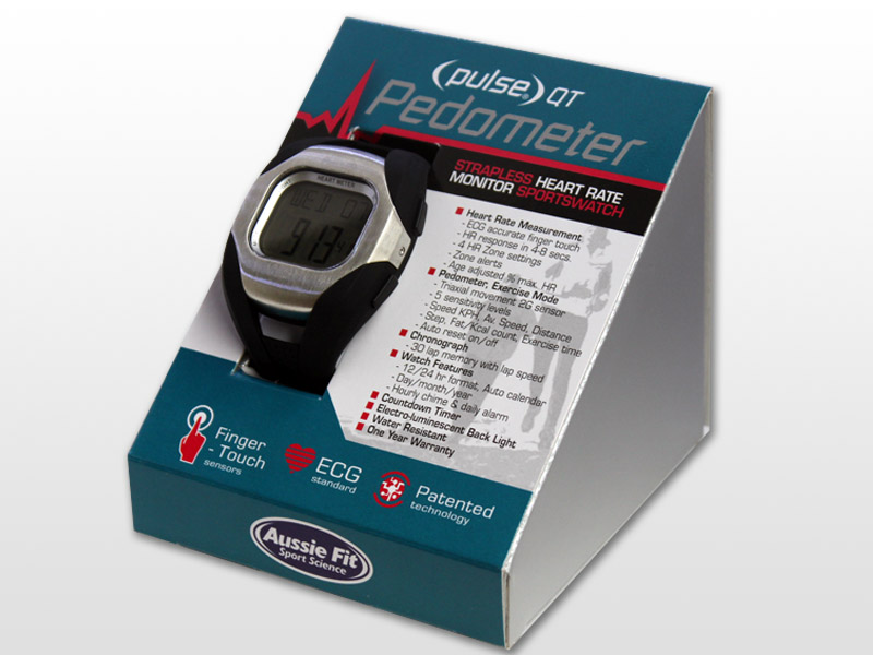pulse qt pedometer strapless heart rate monitor aussie fit sport